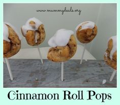 Cinnamon Roll Pops