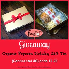 Reviews, Chews & How-Tos: Review/Giveaway: Fancy Pop Organic Gourmet Popcorn. Holiday Tin with 4 Flavors of Fancy Pop. (Cont. US Only) ends 12/22/14.