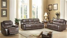 Shop Home Elegance Allenwood Brown Living Room Set with great price, The Classy Home Furniture has the best selection of to choose from Living Room Sets, Living Room Furniture, Home Furniture, Living Spaces, Sofa And Loveseat Set, Sectional Sofa, Leather Living Room Set, Beautiful Living Rooms, Reclining Sofa