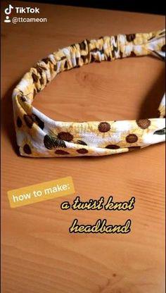 Sewing Headbands, Diy Baby Headbands, How To Make Headbands, Fabric Headbands, Diy Headband, Sewing Basics, Sewing Hacks, Sewing Tutorials, Sewing Crafts