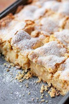 Szarlotka bezglutenowa Gluten Free Bakery, Gluten Free Pie, Gluten Free Desserts, No Bake Desserts, Gluten Free Recipes, Polish Desserts, Polish Recipes, Sweet Recipes, Cake Recipes