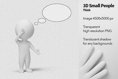 Small People - Think Graphics small people with empty idea bubble. Transparent high resolution PNG with shadows. by Anatoly Maslennikov Photo Fixer, People Talk, Graphic Illustration, Design Illustrations, Photoshop Actions, Improve Yourself, Photo Editing, Bubbles, 3d
