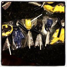 Batman lollipops I made for my sons birthday