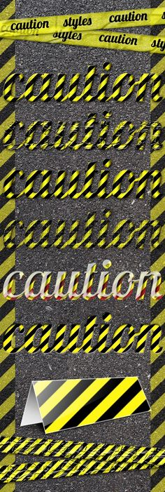 Caution Styles — Layered PSD #glossy #modern • Available here → https://graphicriver.net/item/caution-styles/165669?ref=pxcr