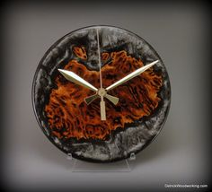 Hey, I found this really awesome Etsy listing at https://www.etsy.com/listing/257757806/unique-wood-and-resin-clock