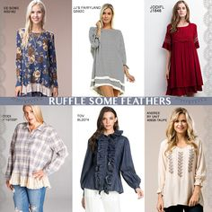 Hot #trend alert! Ruffle sleeves, hems, and collars galore! Shop FG's best of best for top sellers:   #fashion #style