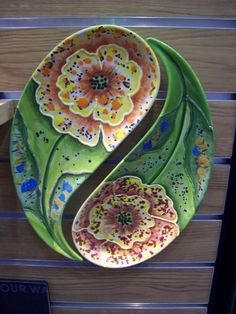 YinYang Floral Set by The Pottery Stop Gallery!,