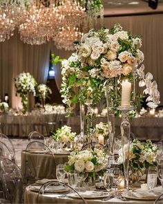 The Flower Firm creates stunning wedding decor and florals for both ceremonies and receptions. View a collection of wedding photos here. Reception Decorations, Wedding Centerpieces, Wedding Bouquets, Wedding Flowers, Table Decorations, Reception Ideas, Green Wedding, Ballroom Wedding Reception, Strictly Weddings