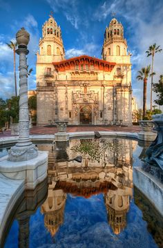 Hearst Castle, San Simeon, CA is a National Historic Landmark mansion located on the Central Coast of California,