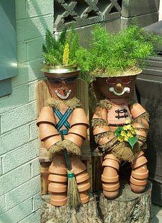 sandylandya@outlook.es  Clay pots  recycled