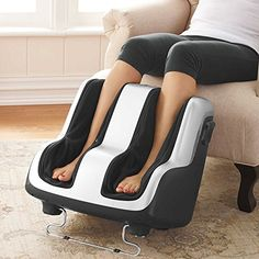 Foot & Calf Shiatsu Massager with Patented Technology. Completely surrounds the feet and calves to deliver a fluid, highly effect massage that emulates the expert hands and techniques of highly trained massage therapists. Massage Roller, Foot Massage, Massage Oil, Sore Calves, Wall Yoga, Acupuncture, Poor Circulation, Massage Machine