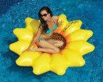 The Swimline Sunflower Island presented by Pool Toy Express is sure to make your day! The die cut petal design on this beautiful island creates comfort while lounging in the pool. Don't get her flowers, get her a Swimline Sunflower Island! Summer Pool, Summer Fun, Pool Fun, Summer Ideas, Summer Things, Summer Loving, Hello Summer, Cool Pool Floats, Pool Rafts
