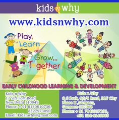 Kids n Why offers a safe and positive environment where we help kids develop a love for  Learning; our preschool curriculum engages toddlers in activities designed to develop their capabilities, confidence and self esteem.  Address: Kids n Why  17 Siri Fort Road New Delhi 110049 Phone: + 91 8130610736, 8527973090  Visit:   http://www.kidsnwhy.com/