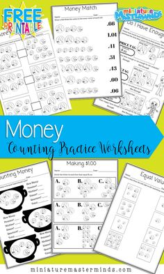 Money Matters – 6 Free Printable Money Counting Worksheets