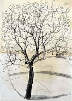 Ben Nicholson, December 1958 (tree at Sava no. 1)