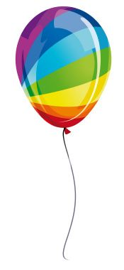 Color Somewhere Over the Rainbow!!! Balloon