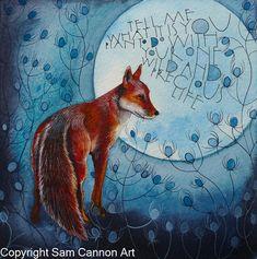 2016 originals – part 2 « Sam Cannon Art Illustrations, Illustration Art, Sam Cannon, Tumblr Bff, Spirited Art, Fox Art, Animal Totems, Gouache, Fantasy Art
