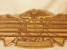 Challenge Coin Display Fleet Marine Force by Tonyswoodscraps