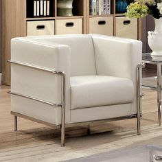 Looking for Furniture America Sonica Contemporary Tuxedo Style Leatherette Arm Chair White ? Check out our picks for the Furniture America Sonica Contemporary Tuxedo Style Leatherette Arm Chair White from the popular stores - all in one. Contemporary Chairs, Contemporary Style, Modern Sofa, Modern Chairs, Living Room Chairs, Living Room Furniture, Sofa Chair, Armchair, Chesterfield Chair