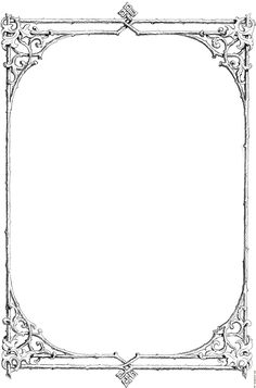 Free Black and White Borders religious | Free clip-art: Victorian border of twigs and leaves details
