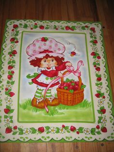 Sweet Tart! Strawberry Shortcake flannel blanket. The only way this could be sweeter is if it smelled like strawberries!