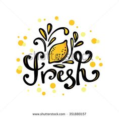 Vector fresh bar logo. Drink, cocktailes, fresh and smoothie label, badge and design element. Lemon fresh