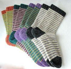 KNITTING PATTERN / Bywater Adult/Teen Socks / knit sock pattern / striped sock pattern / Striped Adult Socks / Women socks / Men socks - Lilly is Love Knitting Projects, Knitting Patterns, Crochet Patterns, Knitting Tutorials, Stitch Patterns, Patterned Socks, Striped Socks, Unisex Clothes, Unisex Outfits