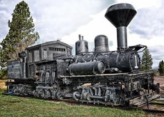 Old Steam Locomotives | Old Shay Locomotive Photograph - Old Shay Locomotive Fine Art Print