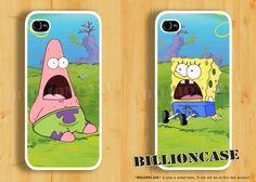Patrick Star SpongeBob - iPhone 4 Case iPhone 5 Case iPhone 4s Case Galaxy Case Hard Plastic Case Rubber Case Movie Parody Shock Surprise