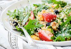 Berry, Arugula and Quinoa Salad with Lemon-Chia Seed Dressing