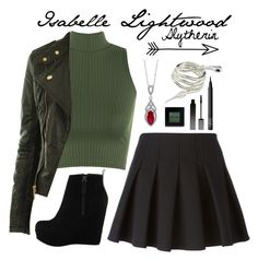 So I really feel like Izzy would be a Slytherin for sure! Harry Potter Outfits, Harry Potter Style, Maquillage Harry Potter, Girls Fashion Clothes, Teen Fashion Outfits, Shadowhunters Outfit, Slytherin Clothes, Character Inspired Outfits, Fandom Outfits