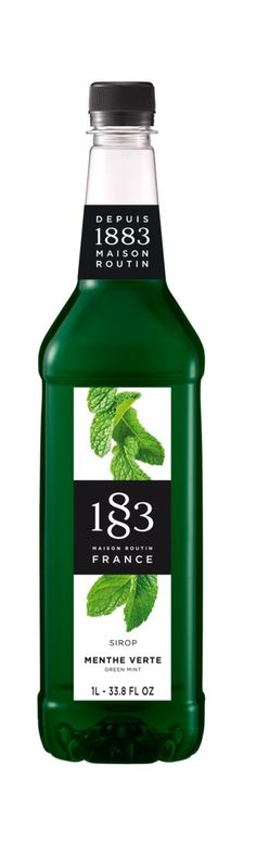 1883 Classic Flavored Syrups - 1L Plastic Bottle: Green Mint | SeriousSips.com Plastic Bottles, Syrup, Mint, Tea, Coffee, Classic, Green, Pump, Silver