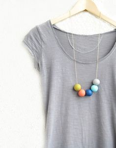 Polymer Necklace - mix with smaller circles or squares for necklace.