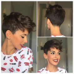 Long pixie hairstyles are a beautiful way to wear short hair. Many celebrities are now sporting this trend, as the perfect pixie look can be glamorous, elegant and sophisticated. Here we share the best hair styles and how these styles work. Tomboy Hairstyles, Long Pixie Hairstyles, Short Hair Undercut, Short Curly Hair, Pixie Haircut, Short Hairstyles For Women, Short Hair Cuts, Curly Hair Styles, Short Blonde Pixie