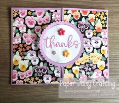 Paper Daisy Crafting: Pansy Petals Circle Opening Card - Video Tutorial Make Tutorial, Mini Album Tutorial, Paper Daisy, Fancy Fold Cards, Little Flowers, Thank You Gifts, Pansies, Mini Albums, Wedding Cards