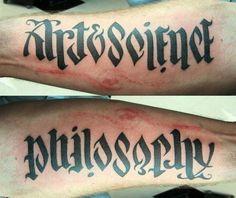 Art & science. Philosophy ambigram