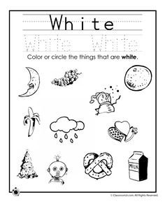Learning Colors Worksheets for Preschoolers Color White Worksheet – Classroom Jr. Color Worksheets For Preschool, Preschool Colors, Color Activities, Kindergarten Worksheets, Preschool Activities, Preschool Forms, Shape Tracing Worksheets, Halloween Worksheets, Number Tracing