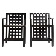 Pair of Charles Rennie Mackintosh DS3 Arm Chairs