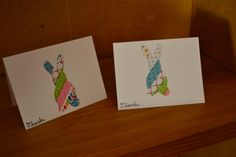 Thank You Card-Washi Tape Bunny by NicolesPaperHearts on Etsy