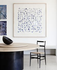 Round table  - H & M Residence - Shareen Joel Design | Interior Design, Interior Architecture & Industrial Design Melbourne