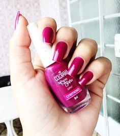Pink magenta color nails colorama