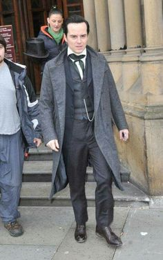 Andrew Scott... this looks like either frankenstein or setlock // I hope to god that it's setlock as I really want Moriarty to be back in the next series --- PLEASE BE SETLOCK PLEEEEASE BE FROM SETLOCK ; ___ ;