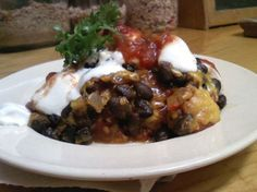 Black Bean and Tortilla Bake Recipe