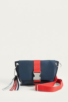 Shop Tommy Jeans Modern Girl Crossbody at Urban Outfitters today. Vintage Bags, Handmade Bags, Beautiful Bags, Purses And Bags, Shoulder Strap, Shoe Bag, Bag Design, Leather Bags, Wristlets