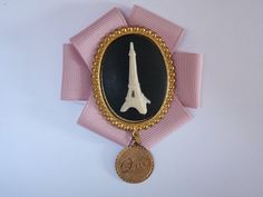 Oh oui Paris 2 / Eiffel Tower cameo brooch on by OuiOuiJewelry, $25.00