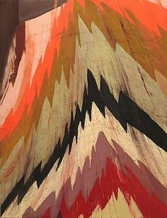 Painting by Clare Grill. I love the warm color palletteand texture in this painting. It looks like an blanket and not a painting. Textiles, Grilling Art, Textures Patterns, Print Patterns, Art Graphique, Color Stories, Art Photography, Street Art, Illustration Art
