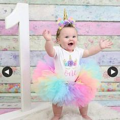 Unicorn birthday outfit , baby girl birthday outfit , unicorn headband tutu and bodysuit Baby Girl Birthday Outfit, Minnie Mouse Birthday Outfit, 1st Birthday Party For Girls, 1st Birthday Outfits, Birthday Tutu, Unicorn Birthday Parties, Birthday Ideas, Birthday Cake, Unicorn Outfit