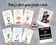 Excited to share this item from my #etsy shop: First year baby girl photo cards, Newborn precious moments baby cards, New baby journal cards, Baby's 1st year milestone cards #firstyear #photocards #babyjournal #babymemories #babycards #babymilestonecards #journalcards