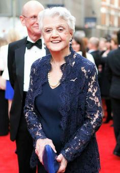 Angela Lansbury on the red carpet at the Oliver awards.