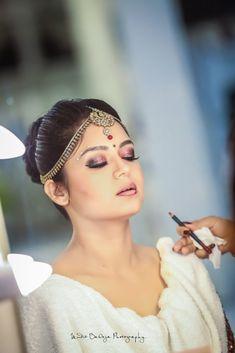 "Photo from album ""Wedding Photography"" posted by photographer Epic Snaps By Mudit Baweja Bridal Make Up, Wedding Make Up, Bun Hairstyles, Wedding Hairstyles, Red Lip Makeup, Wedding Preparation, Gold Choker, Eyeshadows, Red Lips"